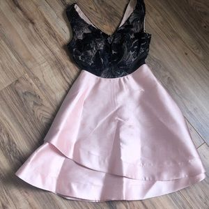 rose gold and black lace fancy dress